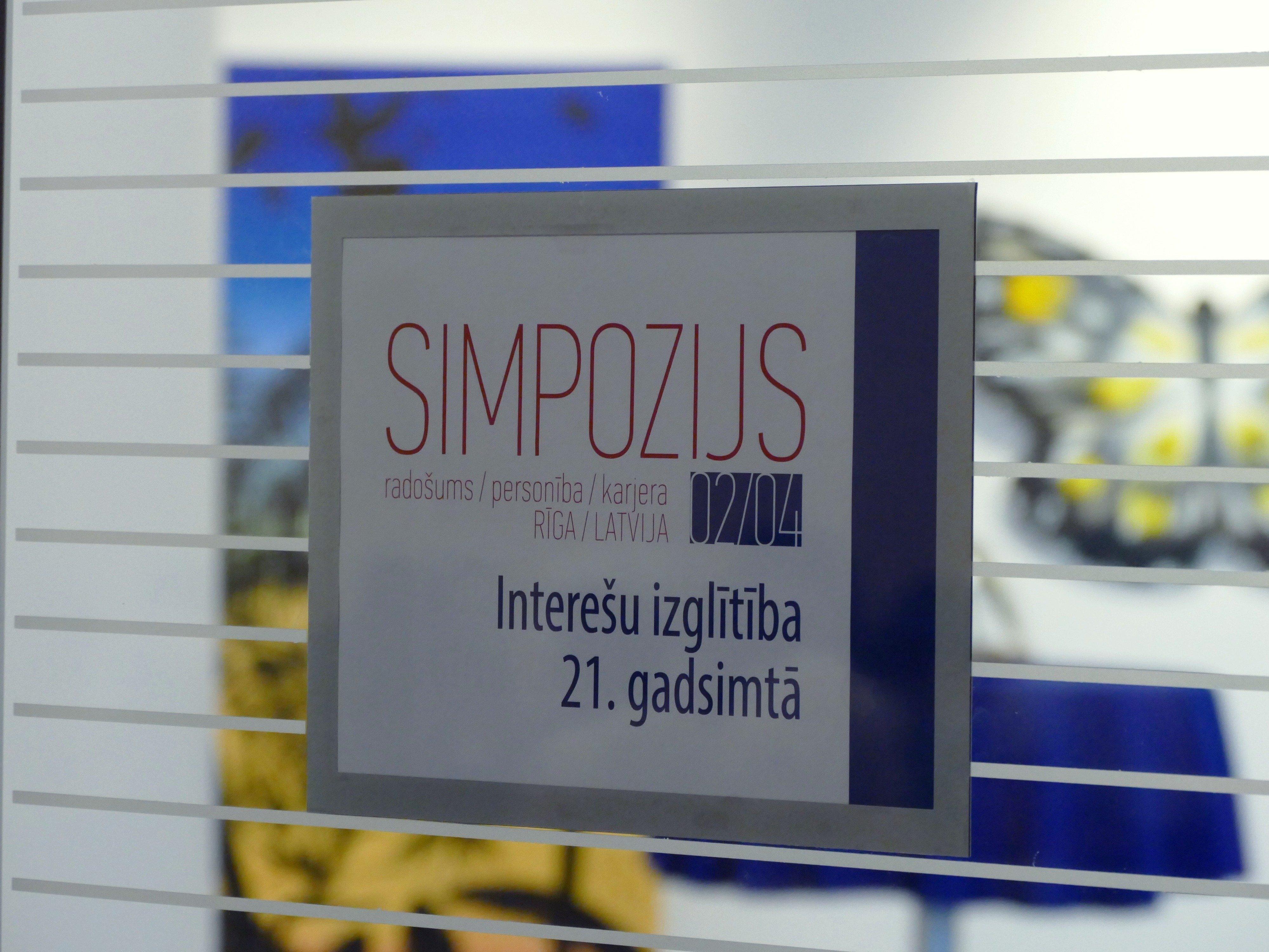 """Simpozijs """"Interešu izglītība 21.gadsimtā: radošums, personība, karjera"""""""