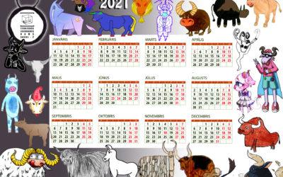 Animācijas studijā tapis 2021. gada kalendārs
