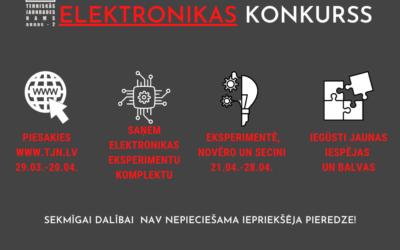 Elektronikas konkurss visiem – ar vai bez priekšzināšanām!